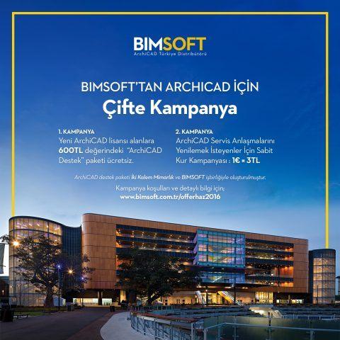 BIMSOFT'tan ArchiCAD İçin Çifte Kampanya 4