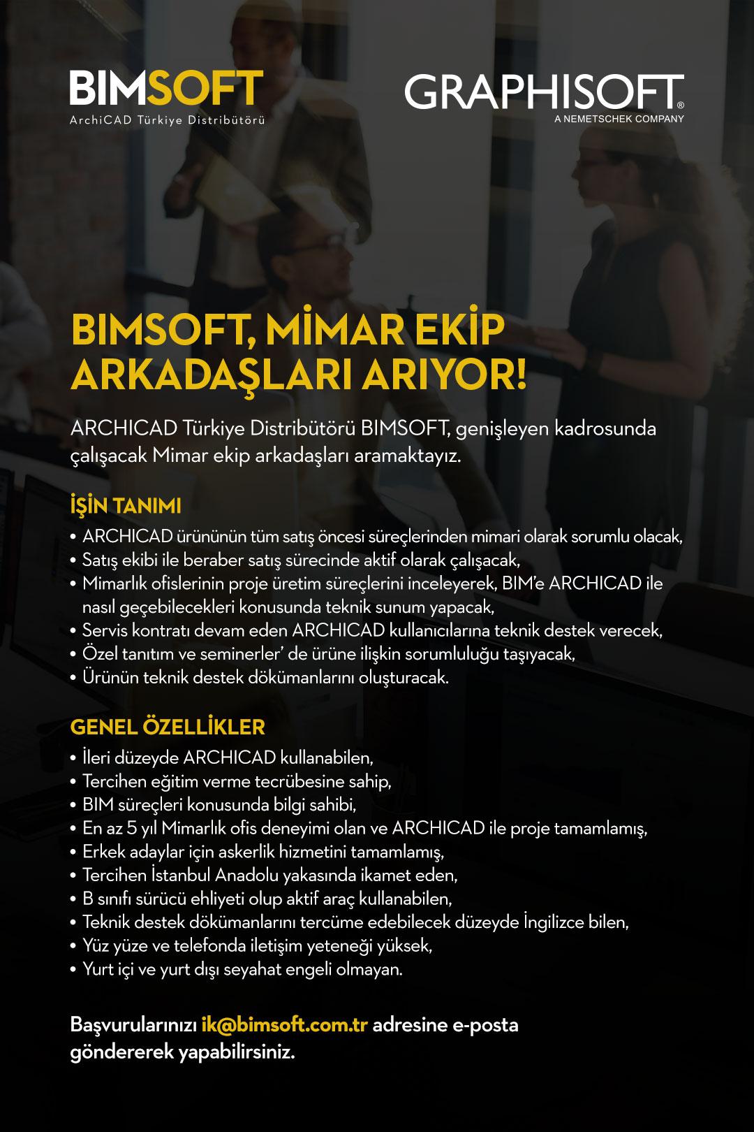 BIMSOFT Mimar Ekip Arkadaşları Arıyor 7