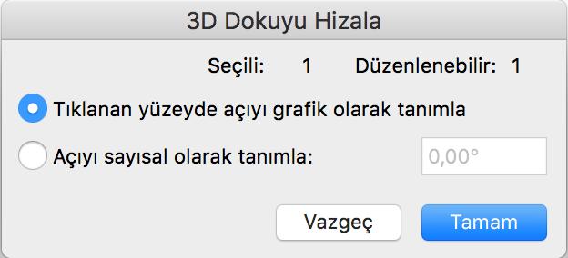 3D Kaplamayı Hizalama 3
