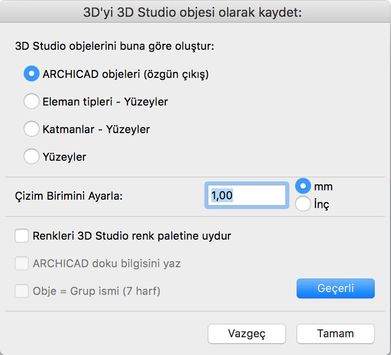 ARCHICAD ve 3D Studio Dosyaları 2