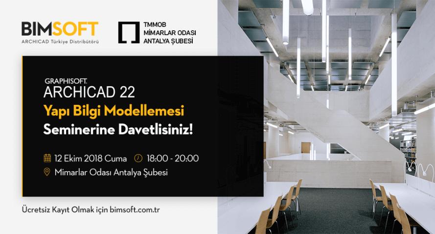Mimarlar Odası Antalya Şubesi ARCHICAD 22 Semineri 4