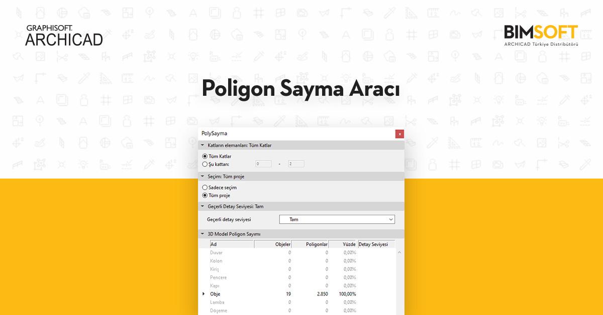 ARCHICAD'te Poligon Sayma Aracı 1