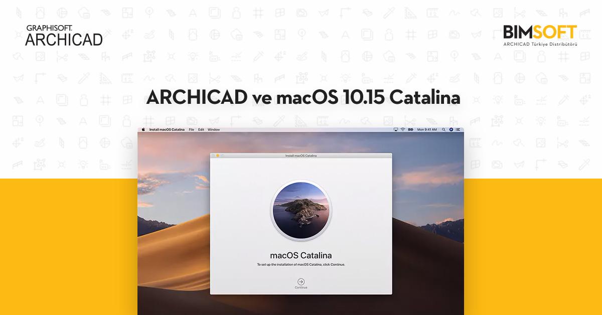 ARCHICAD ve macOS 10.15 Catalina 1