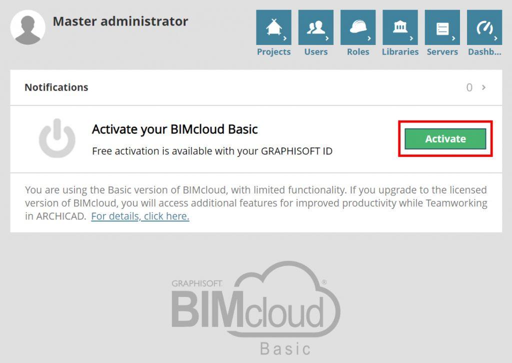 BIMcloud Basic Nasıl Aktive Edilir 2