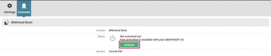 BIMcloud Basic Nasıl Aktive Edilir 3