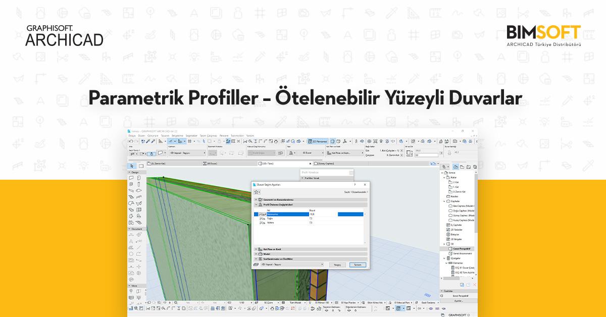 Parametrik Profiller – Ötelenebilir Yüzeyli Duvarlar 1
