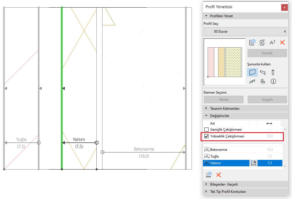 Parametrik Profiller – Ötelenebilir Yüzeyli Duvarlar 5