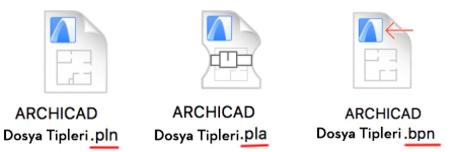 ARCHICAD Dosya Kayıt Türleri 4