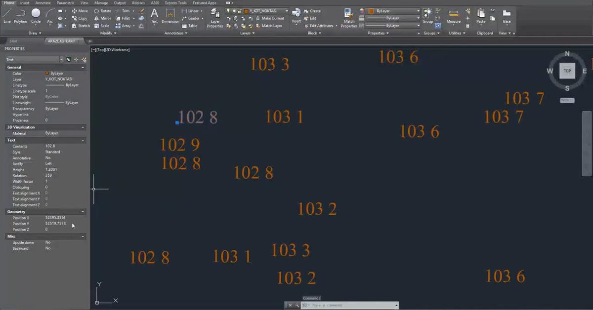 Haritacı Versinden Otomatik Arazi Oluşturma - DWG Dosyasından 3D Arazi Oluşturma 1