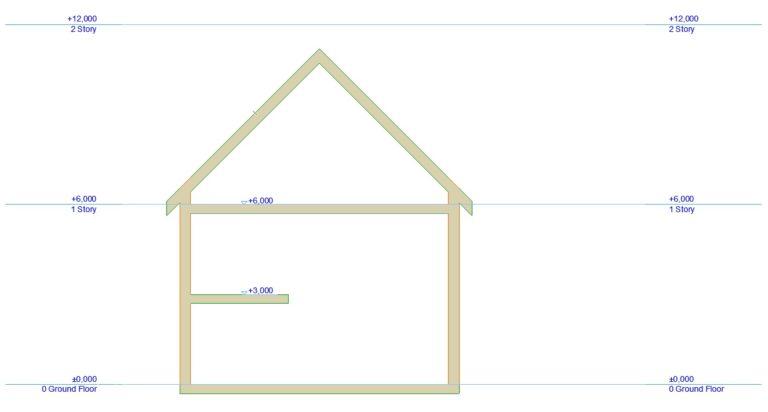 ARCHICAD'de Ara Katlar - Farklı Kotlu Yapılar ile Çalışmak 1